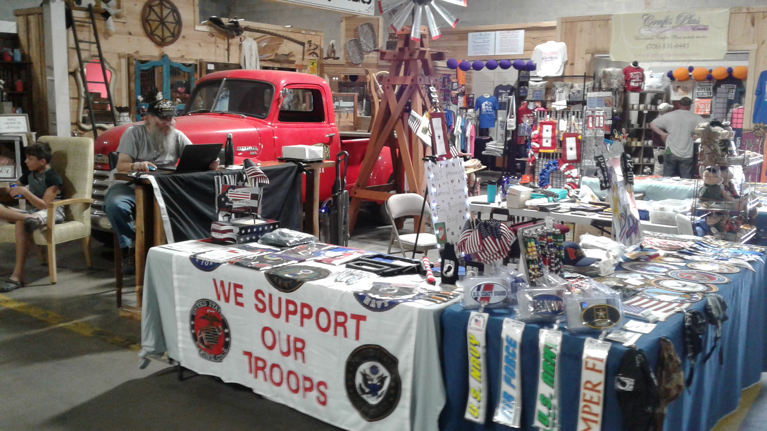 Support Our Troops – Next to Stage